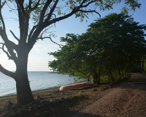 Ometepe 2 - boat by lake